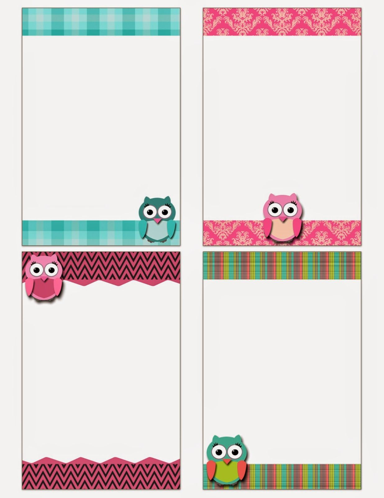 Printable Note Cards Free Printable Owl Notecards Crafts Pinterest Free