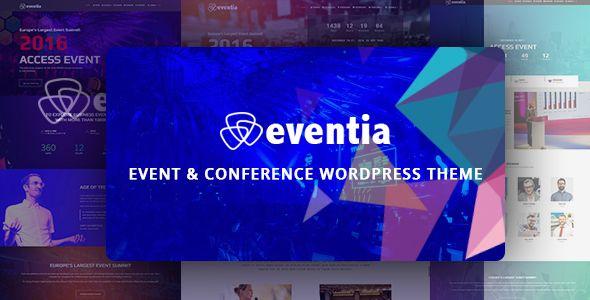 Eventia - Conference & Event Responsive WordPress Theme | Pinterest