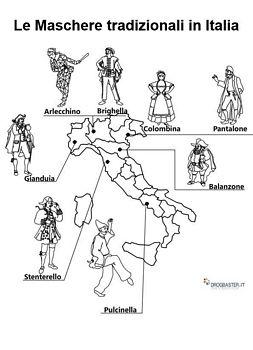 Tutte Le Maschere Italiane Piu Famose Da Stampare E Colorare