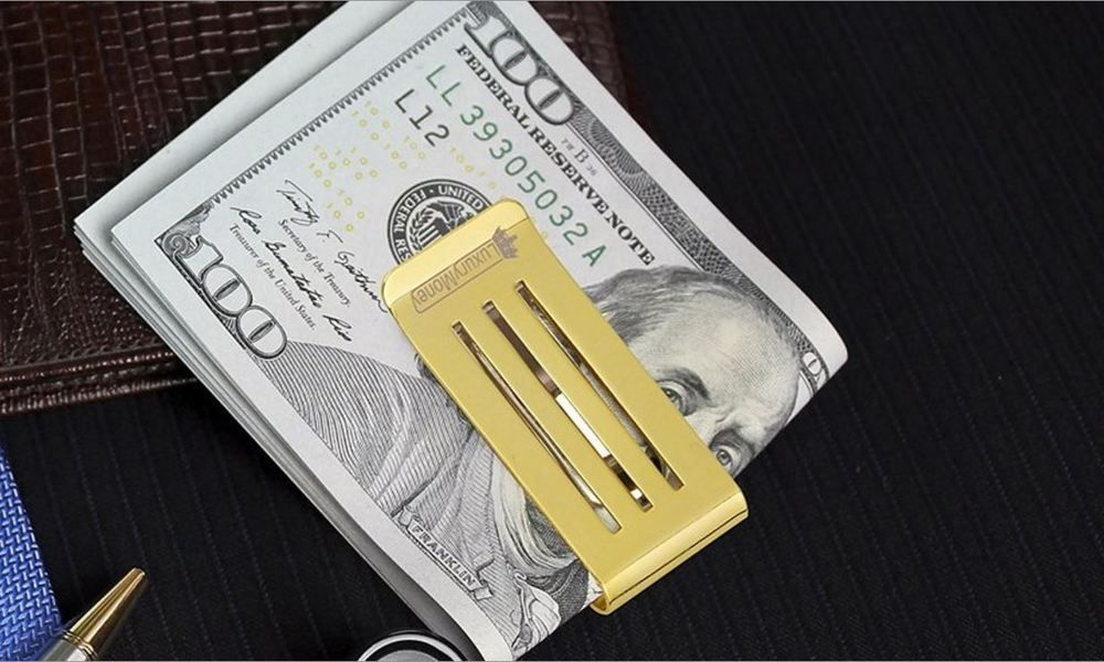 Money Clip And Credit Card Holder Business Card Cash Clip Organizer ...
