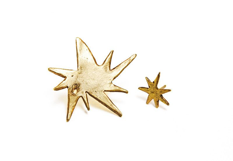 decay starburst earrings. antiqued gold. – Mr. Kate  #MrKate #SpringStyle