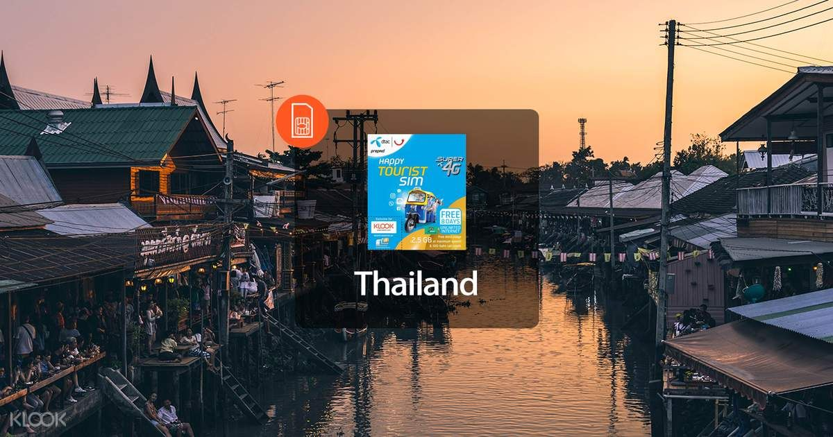 Sale 4g Thailand Sim Card For Tourists Airport Pick Up Klook