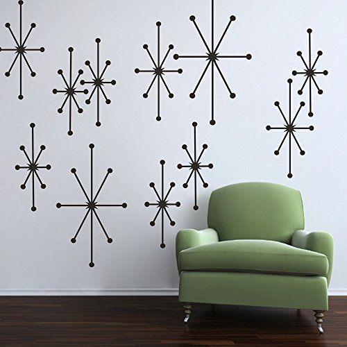 Starburst Wall Decals Retro Wall Decor Custom Vinyl Wall ... Http://