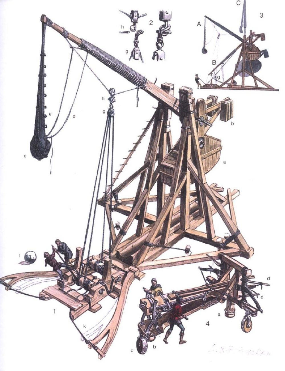 hight resolution of counterweight trebuchet