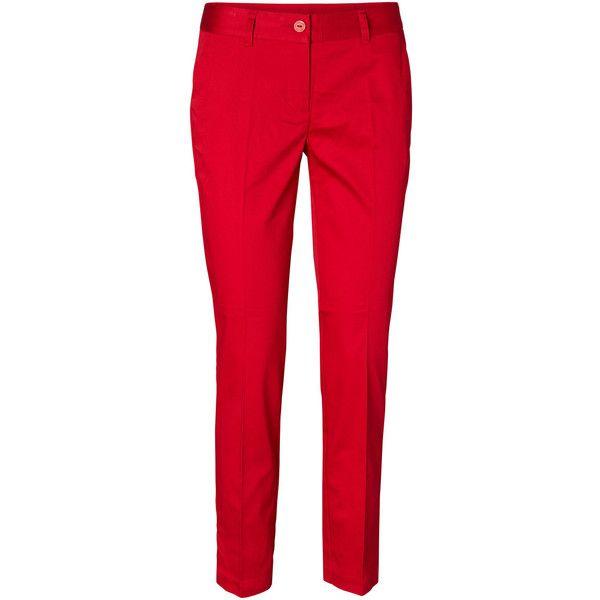Vero Moda Ankle Pants ($35) ❤ liked on Polyvore featuring pants, capris, dressy pants, red pants, ankle jeans, fancy pants ve vero moda