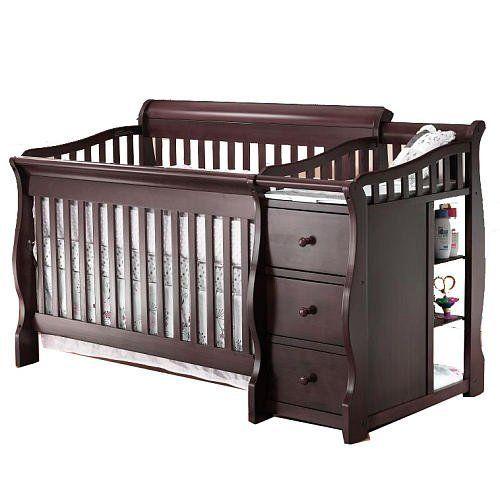 Sorelle Princeton 4-in-1 Convertible Crib & Changer - Espresso ...