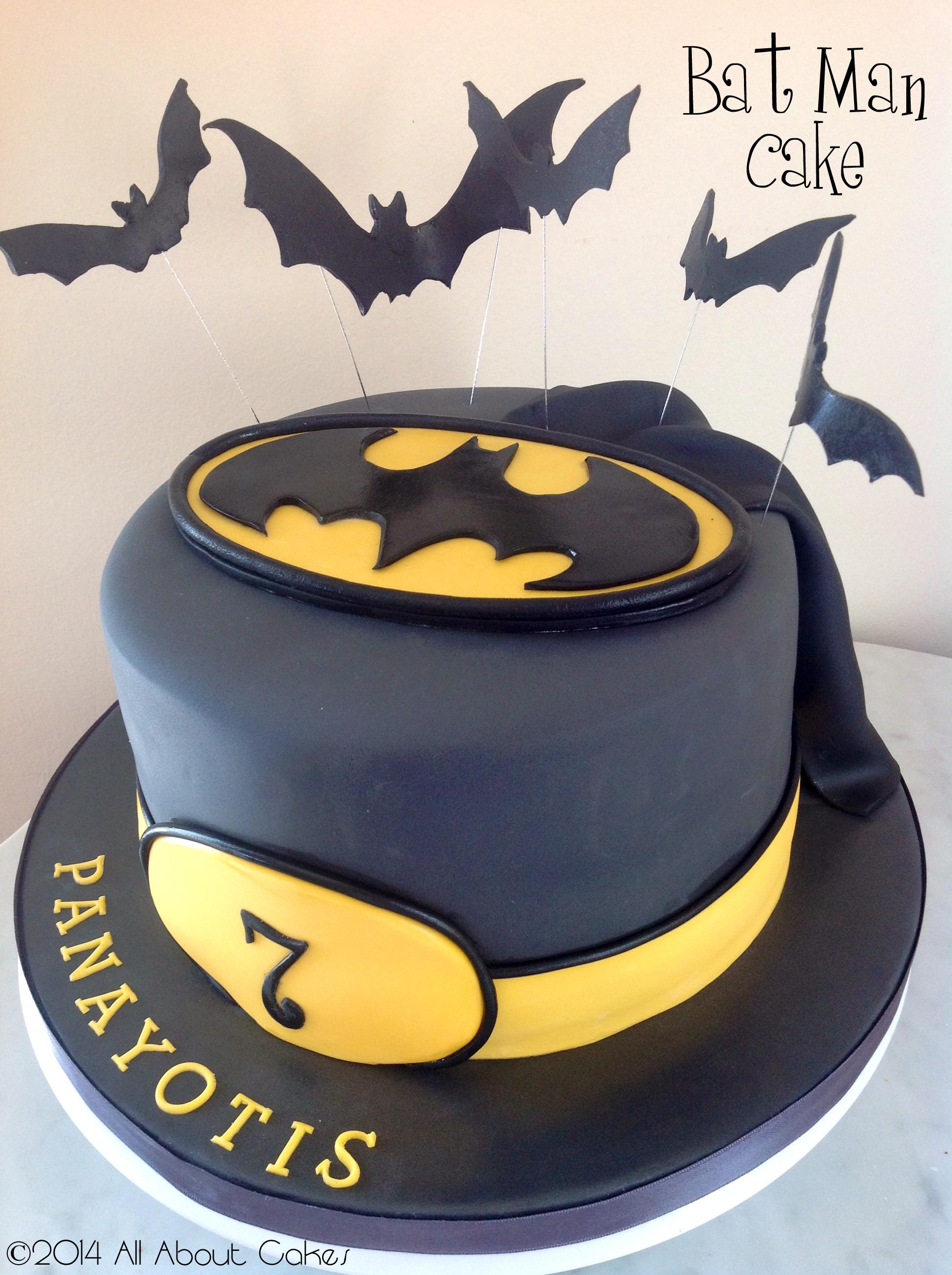 Bat Man Cake | batman | Pinterest | Batman kuchen, Motivtorten und ...