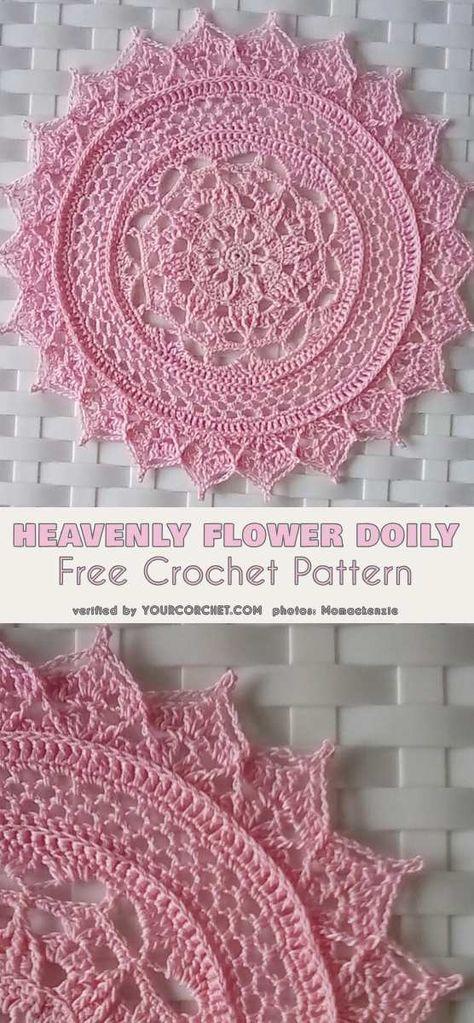 Heavenly Flower Doily Free Crochet Pattern in 2018 | dollys ...