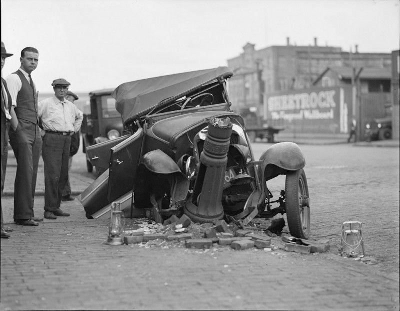 Des accidents de voiture à l\'ancienne