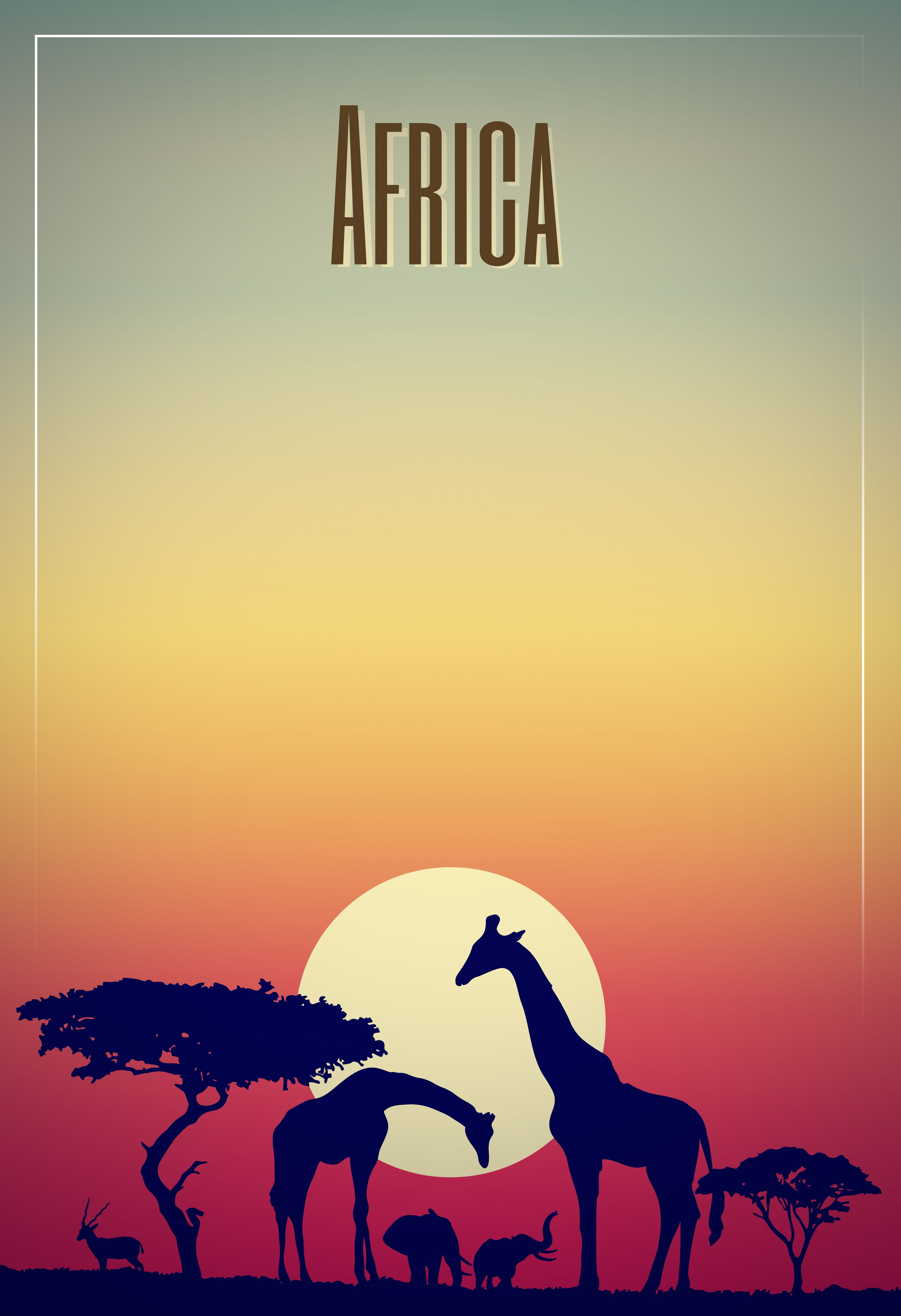 vector poster design title africa africa graphicdesign design