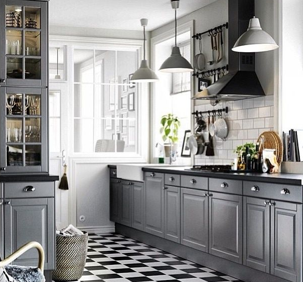 Best Ikea Bodbyn Fitted Kitchen Grey Black Kitchens Grey 640 x 480