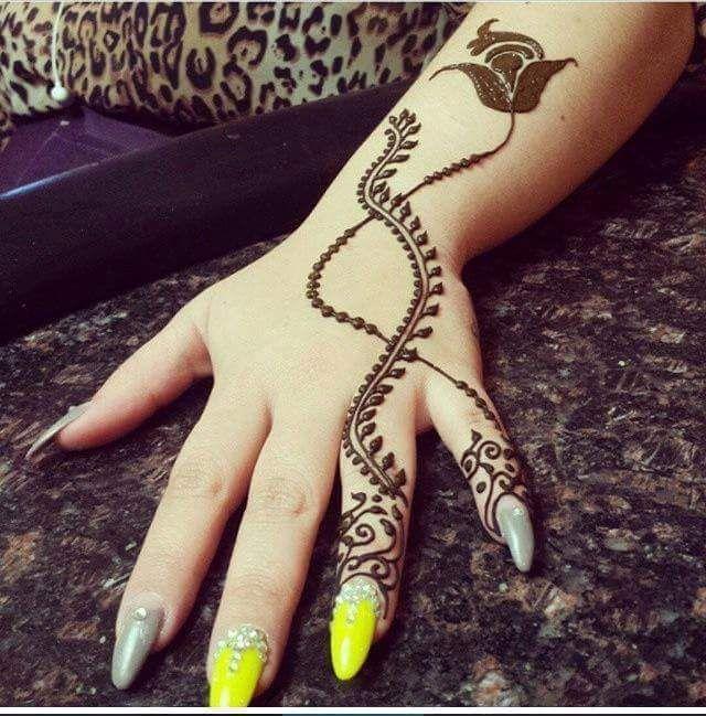 Hand Mehndi Tips : N g