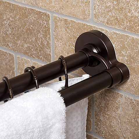 Double Tension Rod Holds Strong In Two Easy Steps Simply Extend And Twist To Lock In Place With The Twisttight Reg With Images Shower Curtain Rods Double Rods Shower Rod