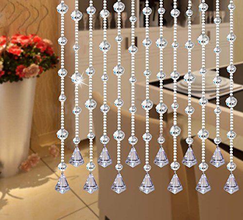 Amazon Com Ujoy 78 Faux Crystal Garland Wedding Bead Strands For