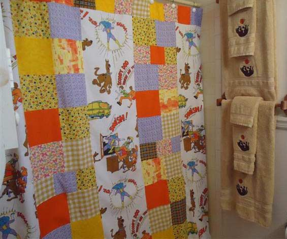 Scooby Doo Shower Curtain Towels 120 Etsy Bathroom Setsscooby