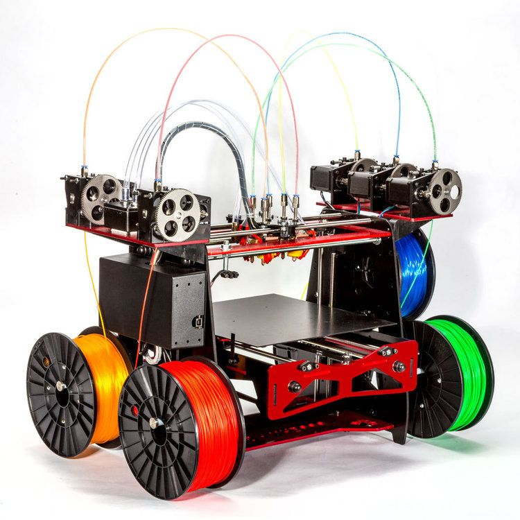 A FiveExtruder 3D Printer With No Name