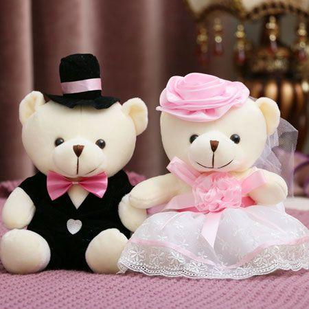 Cute Teddy Bears for Kids or Wedding Car Decorations-Egifts2u.com