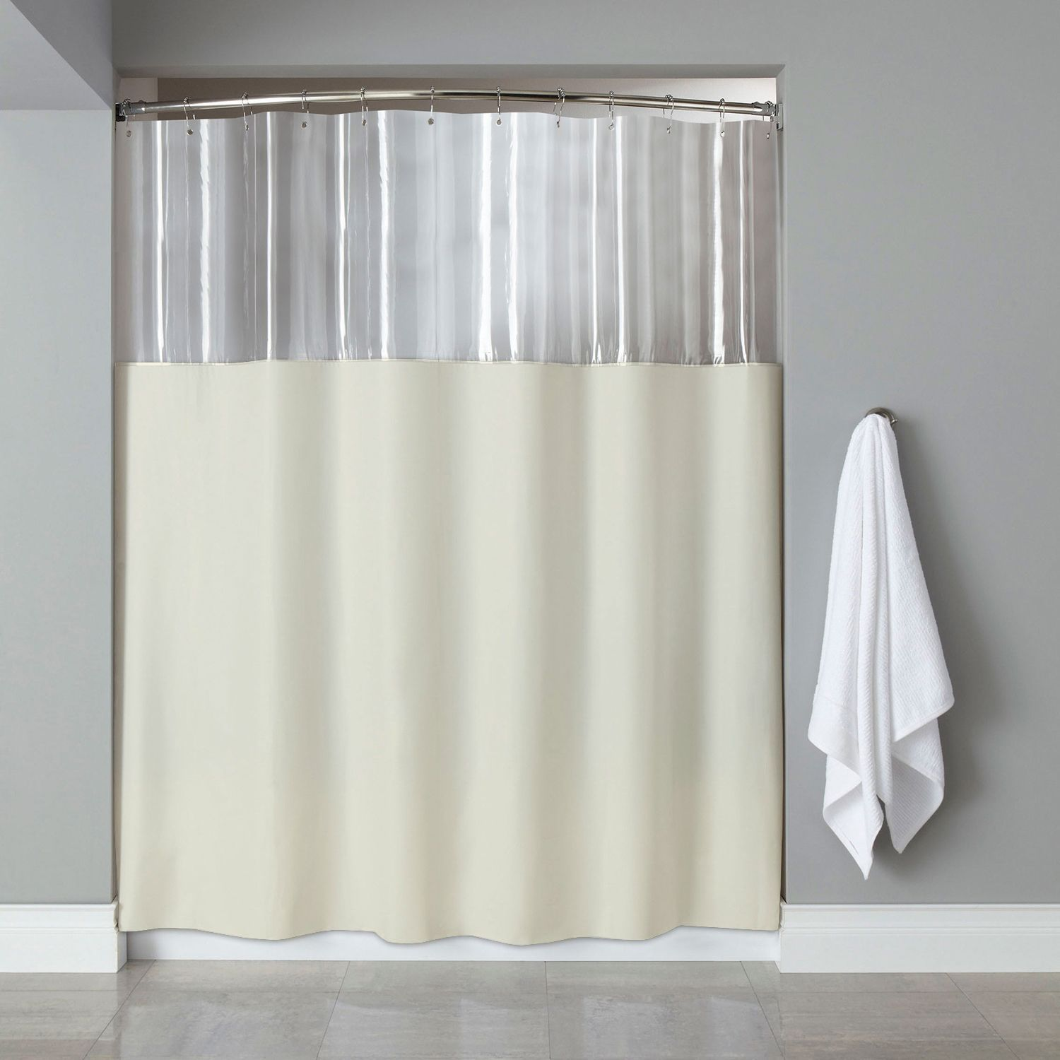 Extra Long Antibacterial Clear Ivory Shower Curtain 84 X72 White Shower Fabric Shower Curtains Extra Long Shower Curtain