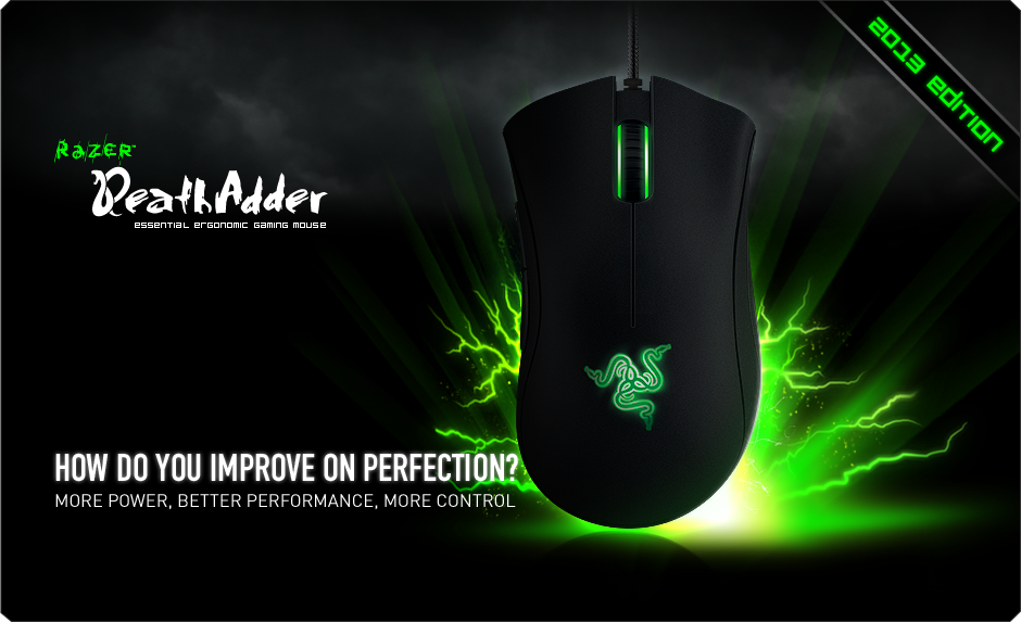 Razer DeathAdder 2013 Gaming Mice - Essential Ergonomic