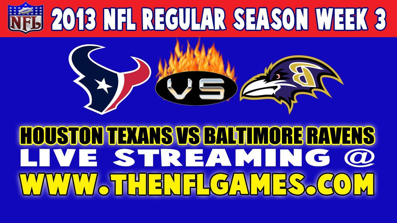 Houston Texans vs Baltimore Ravens Live Streaming Denver
