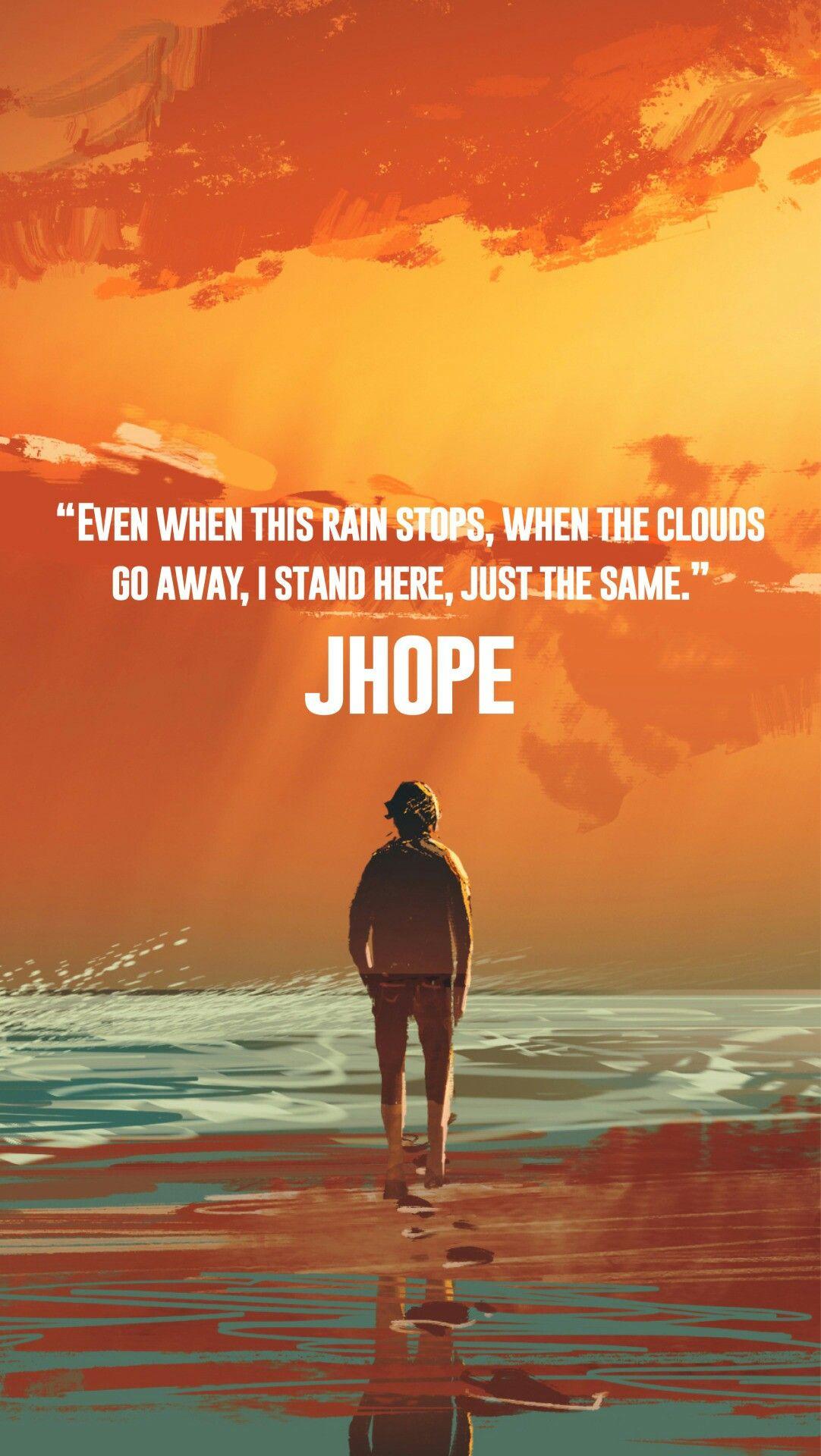 JHope Wallpaper Bts quotes, Bts qoutes, Bts wallpaper