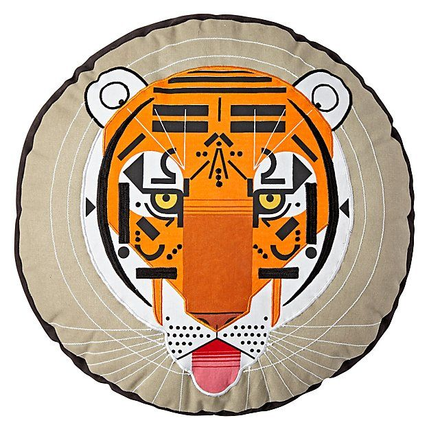 Charley Harper Tiger Throw Pillow