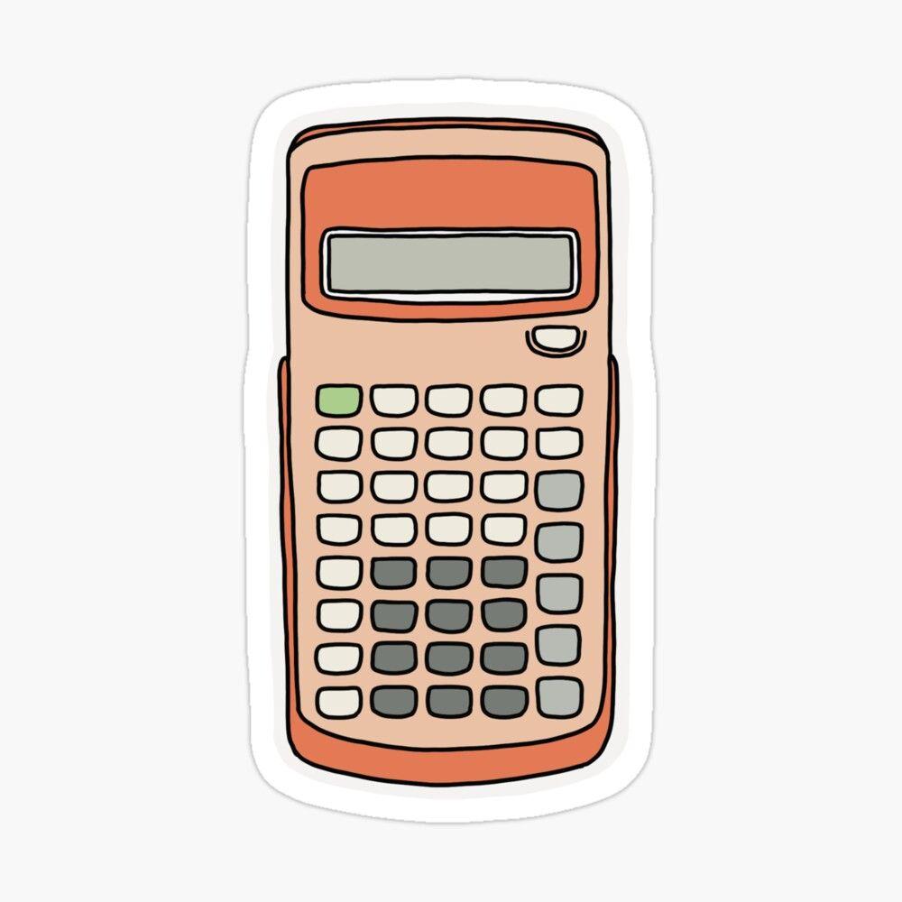 Cute Scientific Calculator design! Sticker by Lisa Lane ...