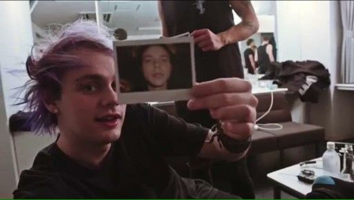 Confused man meets polaroid