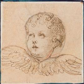 Anónimo | Cabeza alada de un putto | Siglo XVI | Museo del Prado, Madrid, Spain.
