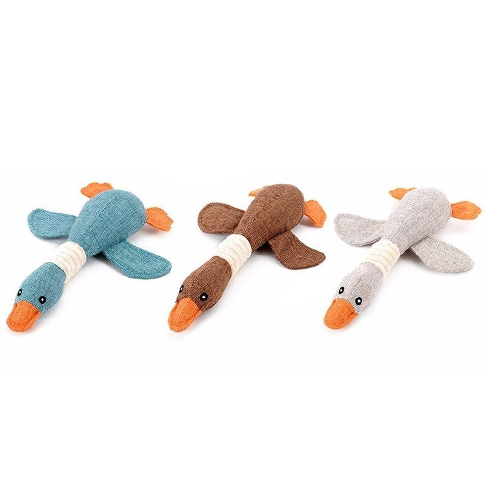 Tlhome Pet Dog Squeaky Toy Flying Duck Shape Training Chew Toy