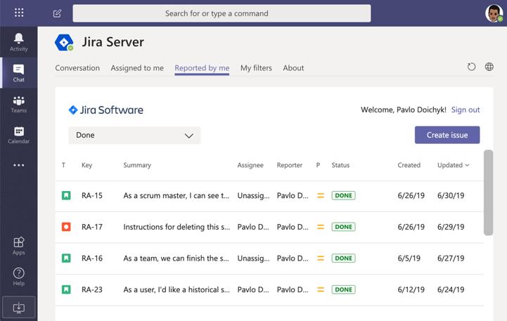 Jira Server App For Microsoft Teams Sharepoint Microsoft App