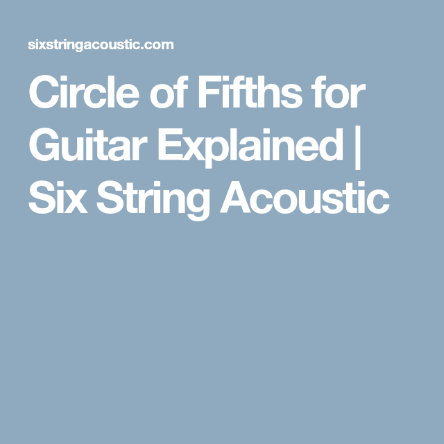 Circle of Fifths for Guitar Explained   Six String Acoustic   Music ...