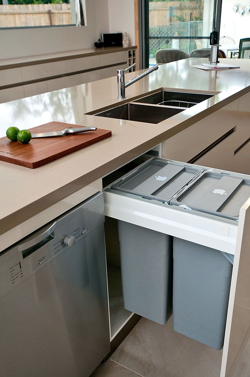 Kitchen Design Idea - Hide Pull Out Trash Bins In Your Cabinetry ...