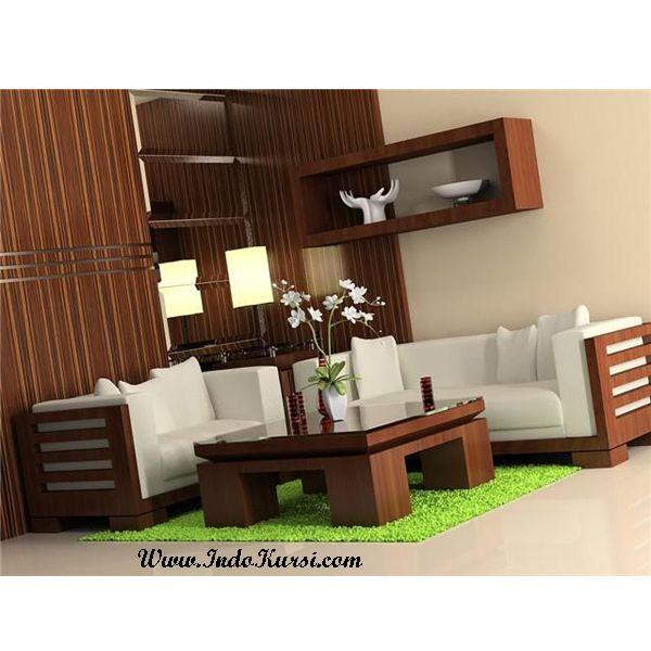 Kursi Tamu Jati Minimalis Resban Rumah Kreatif Wooden Sofa