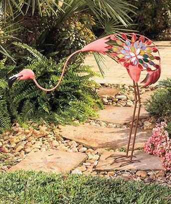 Flamingo Yard Art Decorations Bird Garden Statue Lawn Decor Patio