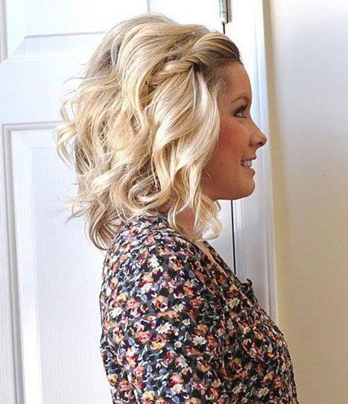 image result for wavy hair half up | frisuren, schöne