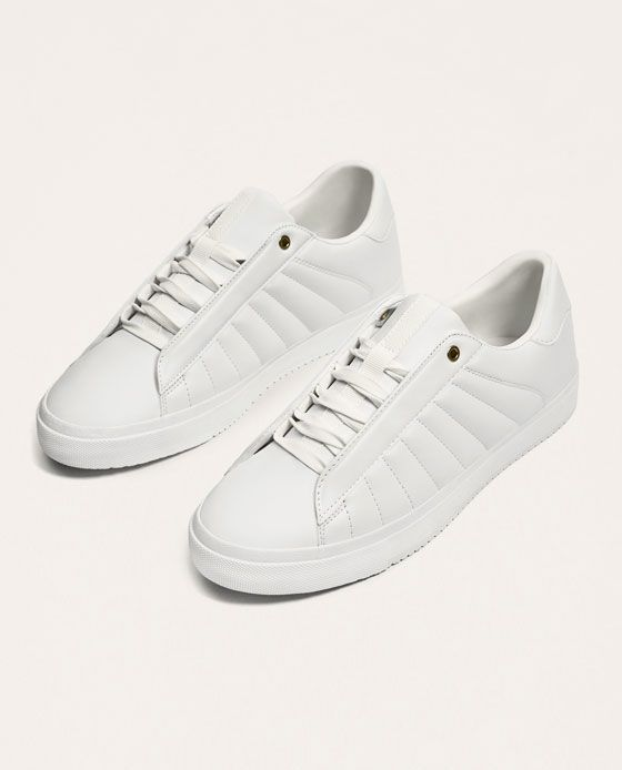 big sale b82fc fcd5f Image 2 of WHITE QUILTED SNEAKERS from Zara