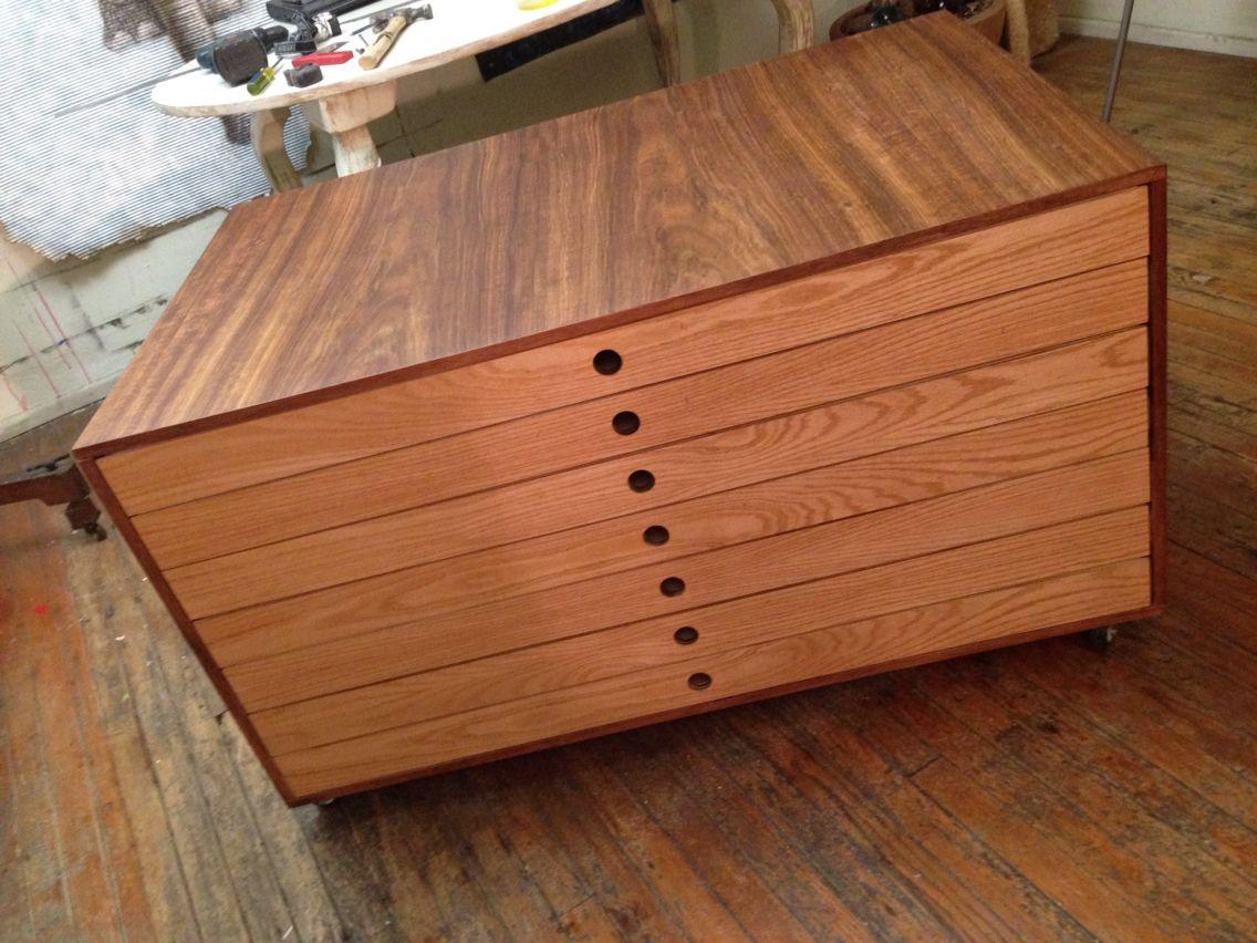 Planero hecho de mdf con chapa de encino y tzalam muebles pinterest - Muebles de chapa ...