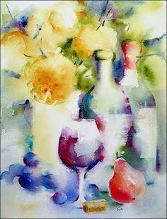 Watercolors by Maria Stezhko (Акварели Марии Стежко): Autumn wine