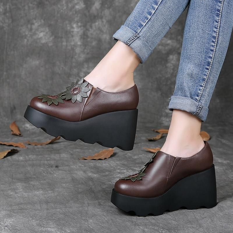 Casual Leather Comfortable Platform