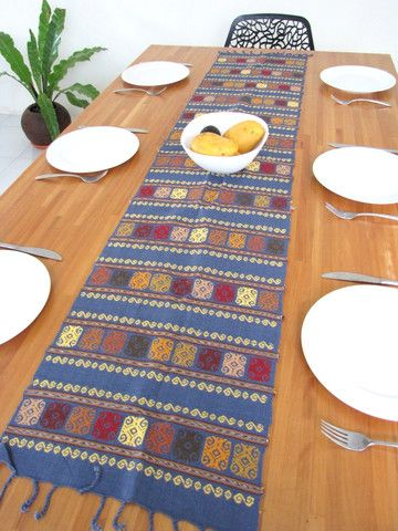 Table Runner Handmade Mexican Style From Chiapas, Mexico