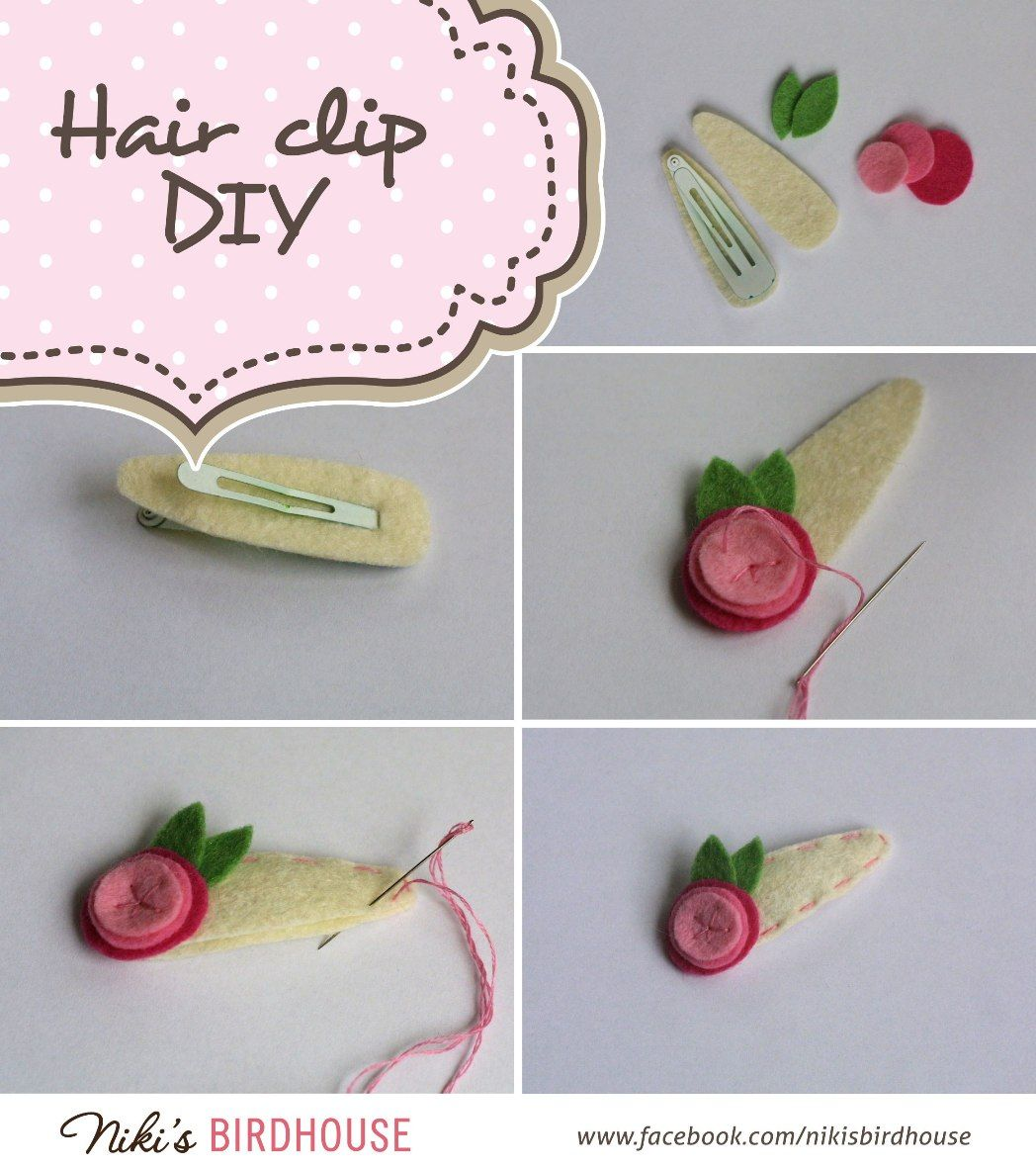 Easy Diy Felt Hair Clip Hair Clips Diy Felt Hair Accessories Felt Hair Clips