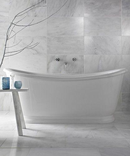 Misty Fjord Polished 61x30 5 Marble Bathroom Grey Bathroom