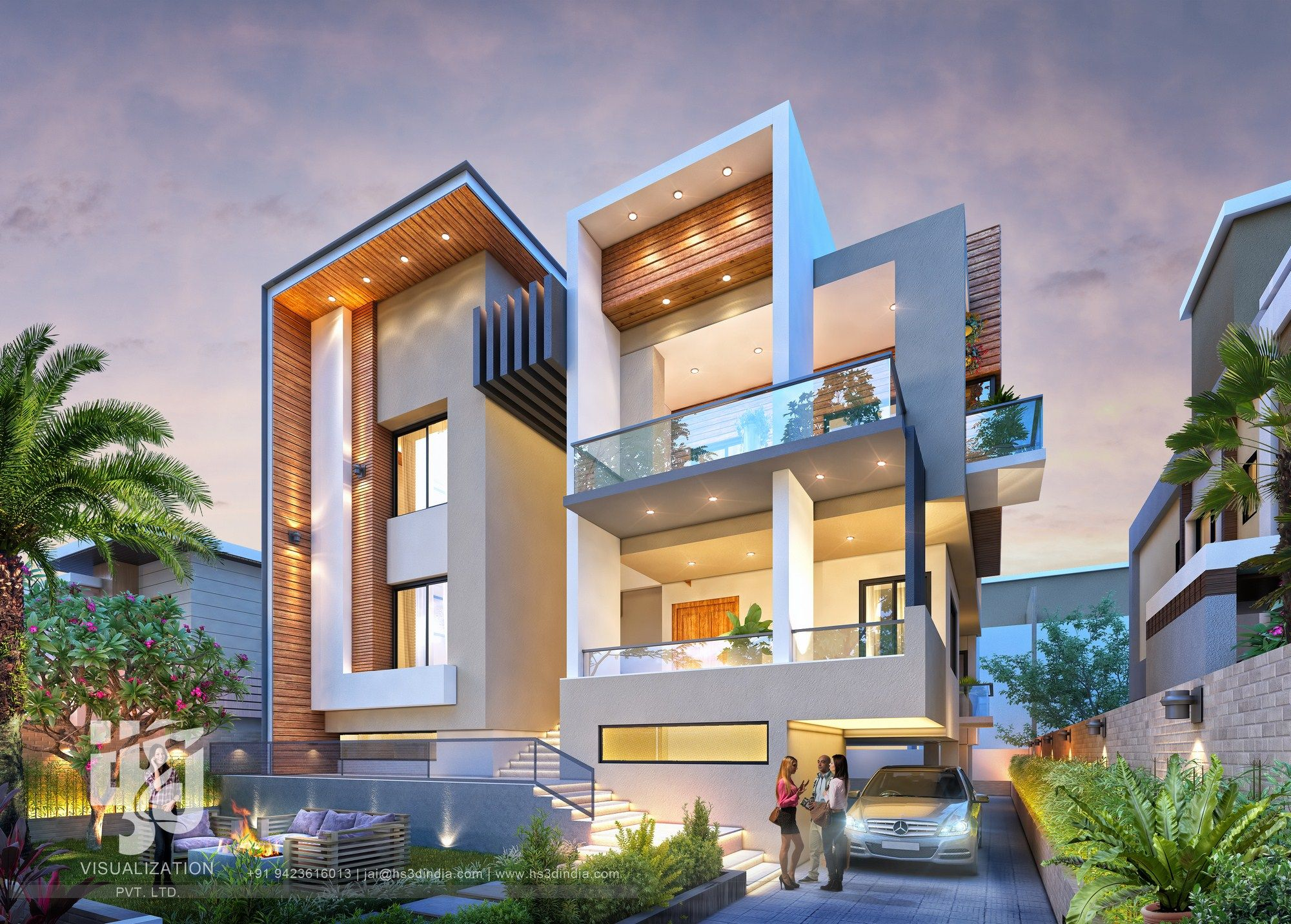 Imposing Luxurious Modern Bungalow Elevation Modern Bungalow Exterior Architecture House Modern Bungalow