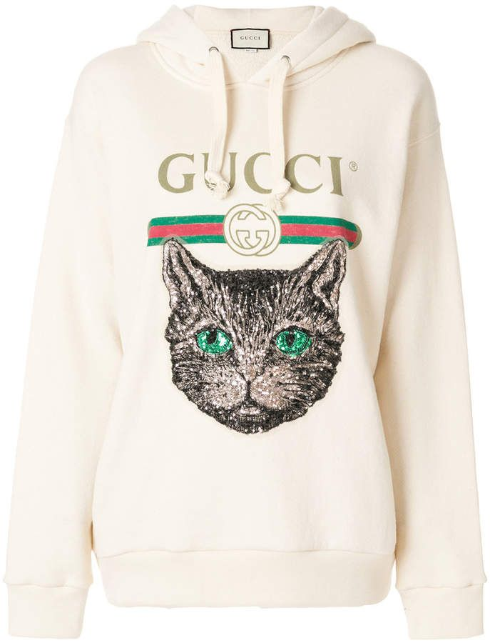d19bce372c26 Gucci Mystic Cat logo hoodie