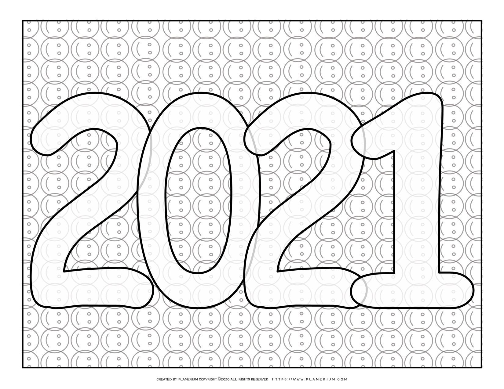New Year Coloring Pages 2021 Smileys Sign Planerium Coloring Pages New Year Coloring Pages Cool Coloring Pages [ 1275 x 1650 Pixel ]