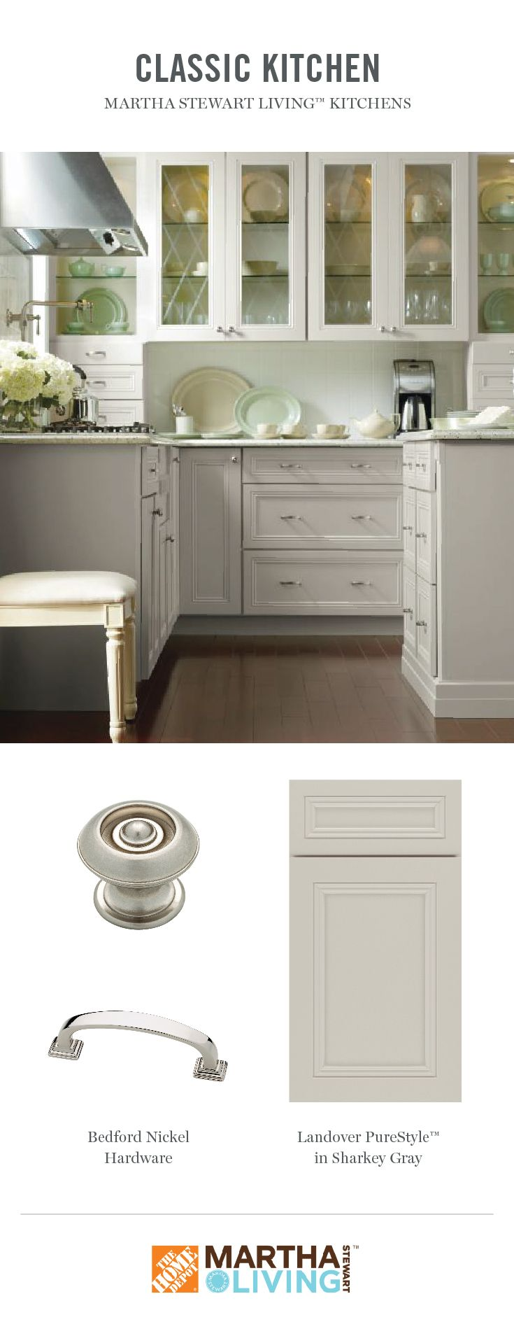 The Landover Cabinetry Door Is An Updated Traditional Look Inspired By Martha S 1920s Home On The Coast Martha Stewart Living Kitchen Home Kitchens 1920s House
