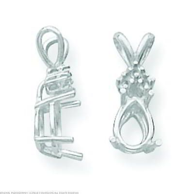Pendant 67709 14k white gold 4 prong pear pendant setting 8x6mm pendant 67709 14k white gold 4 prong pear pendant setting 8x6mm buy it mozeypictures Choice Image