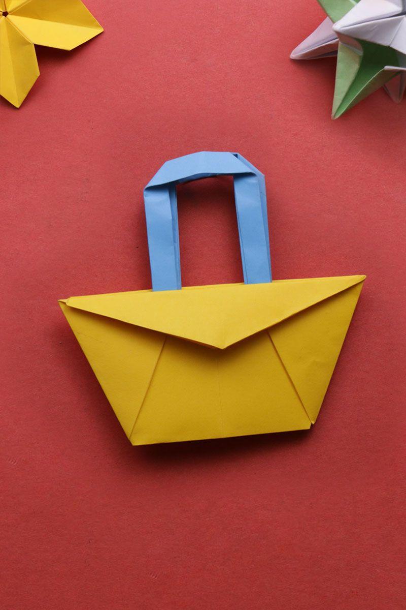 Diy Origami Shopping Bag Paper Bag 92crafts Diy Origami Origami Origami Easy