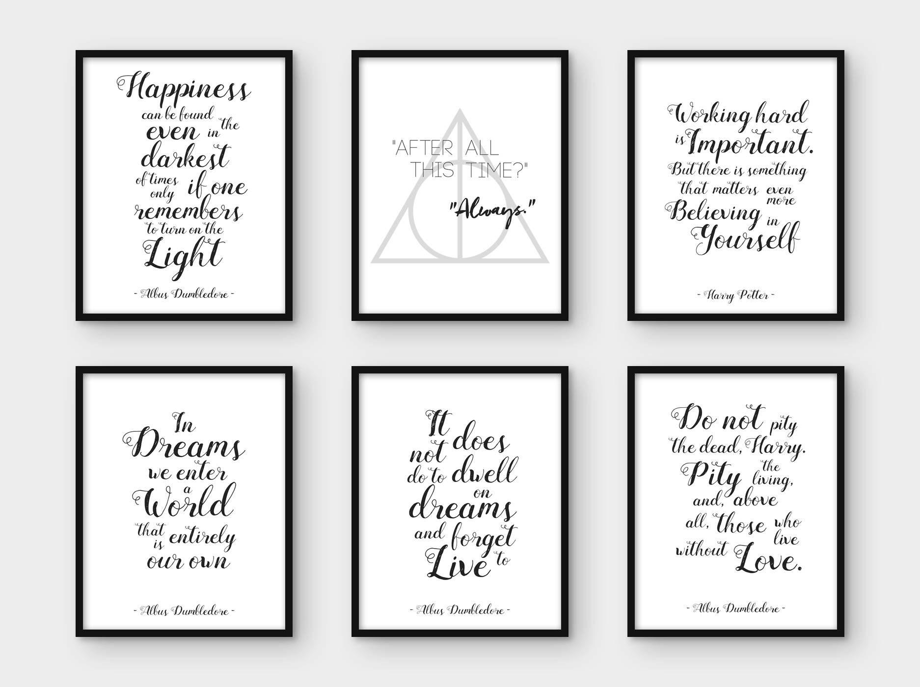 A4 Size Harry Potter Magical Spells Poster//Art Print